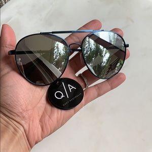 Quay Australia blue & silver mirrored sunglasses